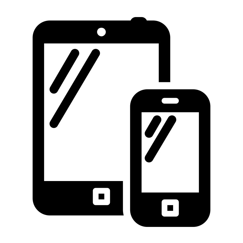 Smartphone and tablet PC black icon